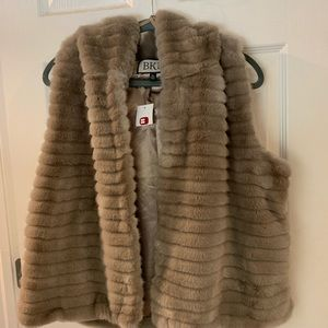 BKE Faux Fur Hooded vest NWT